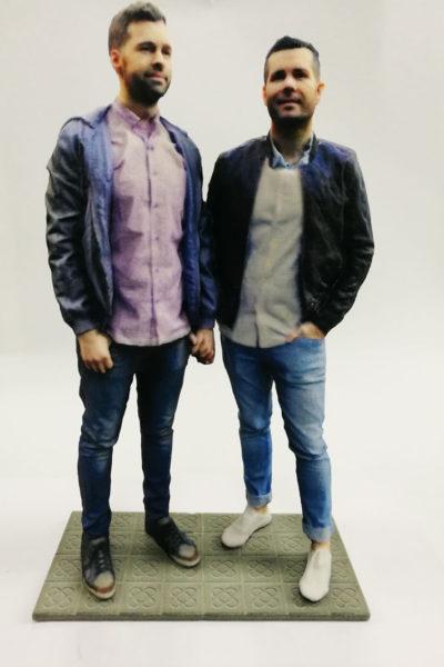 Figuras 3D para novios