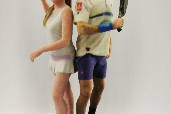 Figuras 3D Personalizadas Novios Deportistas
